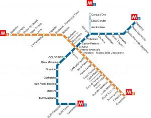 mappa metro roma