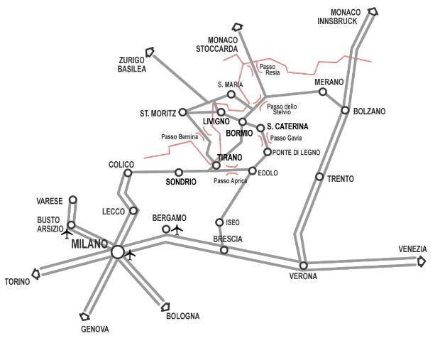 Bormio mappa
