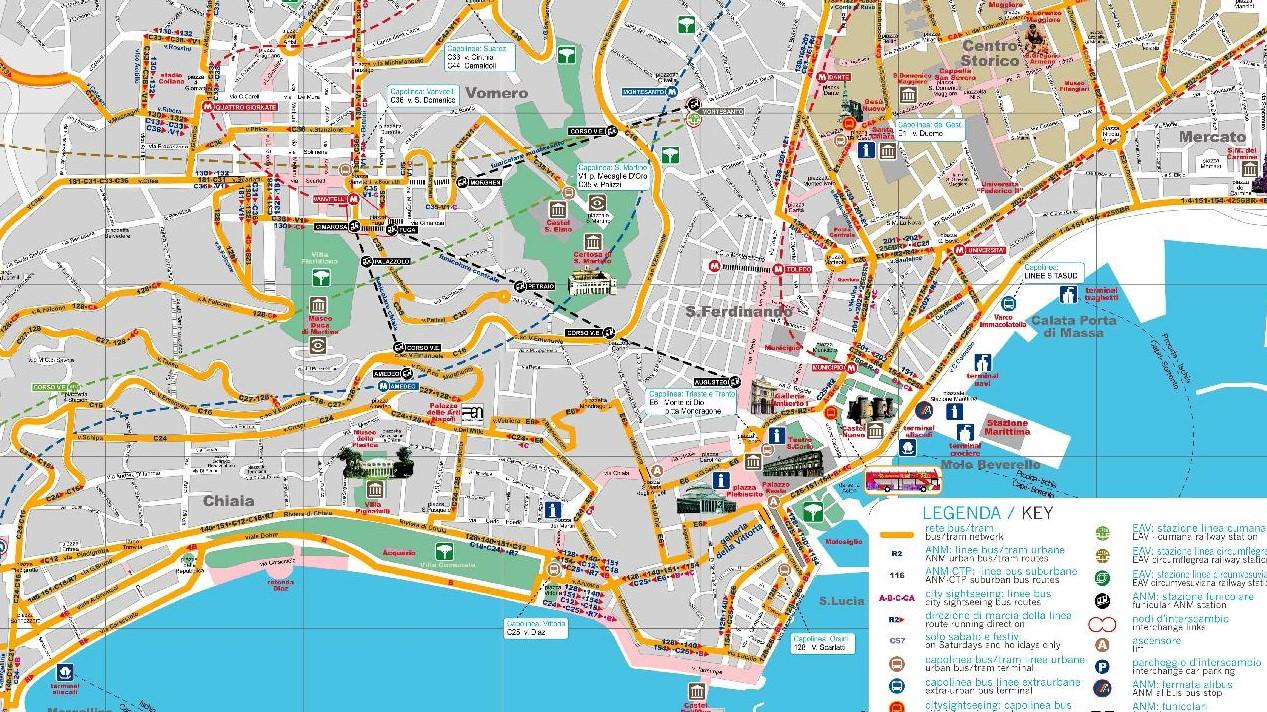 mappa transporti a napoli